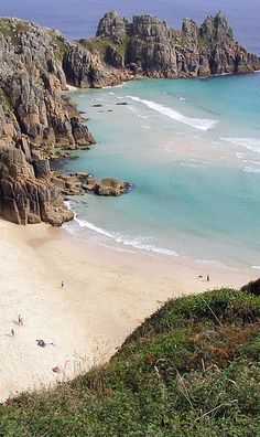 Just come back from visiting this beautiful beach and the amazing Minack theatre overlooking the sea!  Porthcurno Beach nr The Minack Theatre, Cornwall.