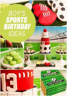 Boy's Sports Birthday Party Ideas