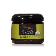 Coconut Oil + Castor Oil Hair Coconut oil is a natural conditioner that bonds with protein in the hair shaft to strengthen hair and reduce breakage. Olive Oil Hair Mask, Argan Oil Hair Mask, Castor Oil For Hair, Hair Oil, 4c Hair, Curly Hair, Coconut Oil Hair Growth, Coconut Oil Hair Mask, Fly Away Hair