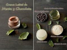 Crema Labial de chocolate y coco