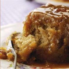 Sticky toffee pudding without dates @ http://allrecipes.co.uk