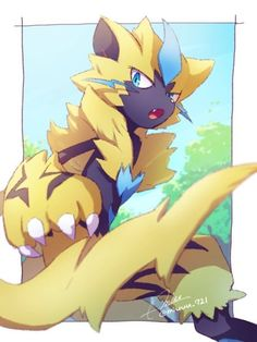 Zeraora Artist by Pokemon Alola, Pokemon Comics, Pokemon Fan Art, Pikachu, Pokemon Stuff, Shining Tears, Best Pokemon Ever, Mythical Pokemon, Cartoons