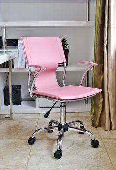 New Pink Trendy Designer Swivel  Office Computer Chair Eames