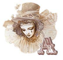 Alfabeto para carnaval máscara con lágrima. | Oh my Alfabetos!