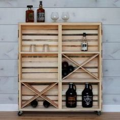 """Check out our internet site for even more relevant information on """"gold bar cart decor"""". It is a great area to read more. Diy Bar Cart, Gold Bar Cart, Bar Cart Decor, Bar Carts, Pinewood Derby, Crate Bar, Ikea Kallax Hack, Kallax Shelf, Homemade Bar"""