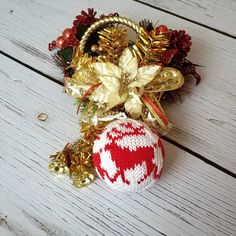 """************* Christmas Ball🎄 """"Santa's Reindeer"""" 🦌 ∅ ~ 7.5 cm 100% cotton, stuffing - hollow fiber - 🔸Doesn't break 🔸Light ⚖ 🔸Easy to store 🔸Can be washed - Perfect choice👌 for #christmastreedecoration in a house with young children 👶👦👧 _ #christmastree #christmasball #christmasgifts #vschristmasballs #magic"""