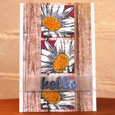 Card by Lyndal using Boxed Blooms and Bold Sentiments