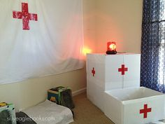 I've finally organized Juliet's doctor party photos and I thought I'd share them today. Medical Party, Nurse Party, 6th Birthday Parties, Man Birthday, Doctor Party, Dramatic Play Centers, Play Centre, Party Themes, Party Ideas