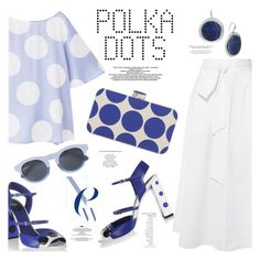 """""""Playful Polka Dots"""" by margaretferreira ❤ liked on Polyvore featuring TIBI, MANGO, StyleNanda, Manolo Blahnik, Robert Lee Morris, By Terry, RetroSuperFuture, PolkaDots and summertrend"""