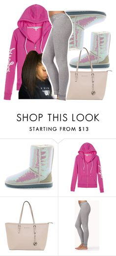 """""""Gang ~ Trill Sammy"""" by retrovintagepizza ❤ liked on Polyvore featuring UGG Australia, Victoria's Secret, Michael Kors and Forever 21"""
