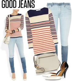 """""""Contest: Good Jeans"""" by renatademarchi ❤ liked on Polyvore"""