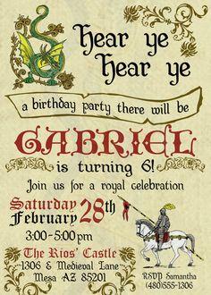 Printable Renaissance Birthday Invitation / by RiverMamasDesigns