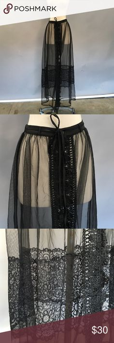 Cute sequin / mesh skirt! Cute sequin/ mesh skirt! Rehab Skirts A-Line or Full
