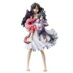 Chozo Art Collection Wolf Children Ame and Yuki  Hana Figure anime