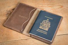 Leather Passport Wallet, Passport case, leather passport holder, passport keeper - DCXL