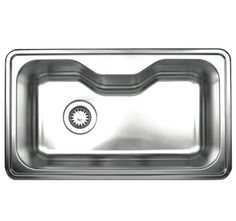 Whitehaus WHNDA3016 33 1/2in Noahs Collection Single Bowl Drop-In Sink in Brushed Stainless Steel
