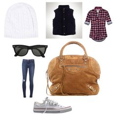 Fall / winter outfits 2013 casual converse vest flannel skinny jeans ray bans