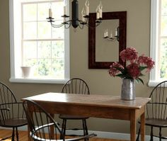 dining room paint colors | Brown Dining Room Color