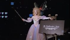 I love her costume. The Ghost of Christmas Present, Scrooged, 1988