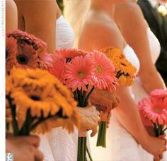 Gerbera daisy bouquet!! - 6 flowers each or so?