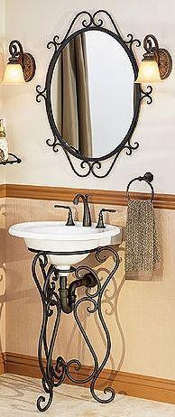 Single Sink Pedestals | Bath Sink Consoles |Wrought Iron Stands