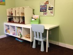 DIY Ikea Hack - Toddler Desk (without the dollhouse) for D!