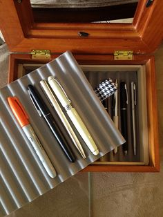 DIY fountain pen box with double layers