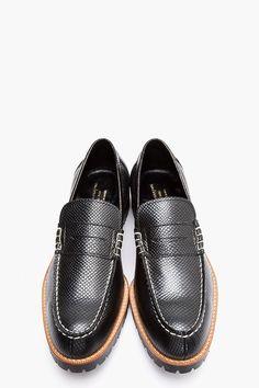 The Best Men's Shoes And Footwear :   COMME DES GARÇONS HOMME PLUS Black & copper reptile leather loafers    -Read More –   - #Men'sshoes  https://fashioninspire.net/mens/mens-shoes/the-best-mens-shoes-and-footwear-comme-des-garcons-homme-plus-black-copper-reptile-leather-loafers/