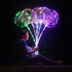 Reusable Luminous Led Balloon Transparent Round Bubble Decoration sold by Original .