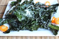 Baked Kale Chips with Parmesan Cheese
