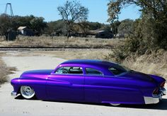 "1951 Mercury Coupe. Charlie Runnels, better known throughout the kustom scene as Mercury Charlie, has a background as unique and colorful as his world famous '51 Mercury coupe, the elegant ""Sweet Nadine""...Re-pin..Brought to you by #CarInsuranceEugene, and #HouseofInsurance"
