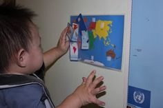 Map and Continent Lesson For Toddler