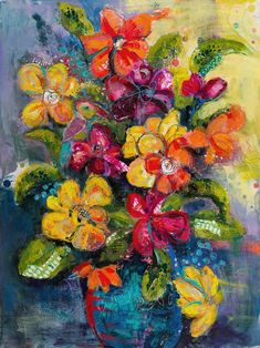 "Saatchi Art Artist Jane Johnson; Painting, ""Colorful Assortment"" #art"