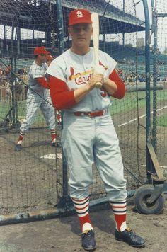 Roger Maris with the Cardinals. St Louis Baseball, St Louis Cardinals Baseball, Baseball Star, Stl Cardinals, Sports Baseball, Baseball Players, Baseball Memes, Baseball Videos, Football
