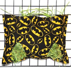 Cotton fabric so hay doesn't stick, pigs can easily get hay out, but most is contained -- helps with hay allergies, keeps hay area neater - Heavenly Hay Bag - Rabbit Feeder, Hay Feeder, Guinea Pig Care, Guinea Pigs, Sack Bag, Bat Signal, Diaper Bag, Cotton Fabric