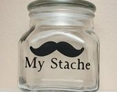 My Stache Money Jar $15 A hilarious way to store your loose change or any other odds and ends you have.