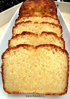 Moist Vanilla Pound Cake. Easy Recipe and absolutely wonderful! #vanilla #loaf #pound #cake