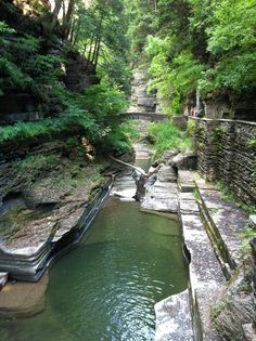 Natural formations in the Gorges of Ithaca, NY