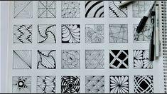 24 zentangle patterns || 24 Doodle Patterns, Zentangle Patterns, Mandala...