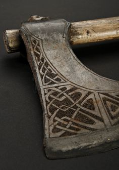 Beautifully etched Norse (? guessing) ax