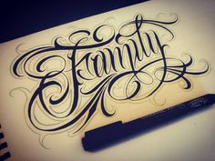 Gothic Lettering, Tattoo Lettering Fonts, Lettering Styles, Lettering Design, Ab Tattoo, Font Tattoo, Script Tattoos, Word Tattoos, Mini Tattoos