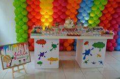 28 Ideias para Festa Pintando o Sete: http://www.gemelares.com.br/2013/09/28-ideias-para-festa-pintando-o-sete.html