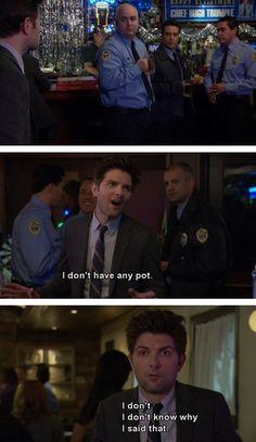 Ben's super awkward around cops... (Parks and Recreation)