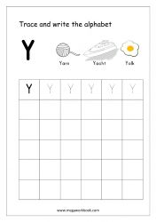 English Worksheet - Alphabet Writing - Capital Letter Y English Alphabet Writing, Alphabet Writing Worksheets, Alphabet Writing Practice, Writing Practice Worksheets, Alphabet Tracing, Learning Letters, Hindi Worksheets, Handwriting Worksheets, Alphabet Crafts