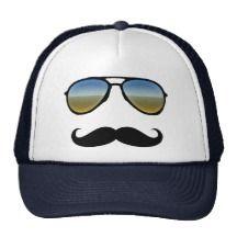 Funny Retro Sunglasses with Moustache Hat