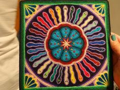 There's a Dragon in my Art Room: Yarn painting, Huichol style for kids