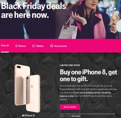 T-Mobile Black Friday 2017 Ads and Deals See all smartphone deals during Tmobile Black Friday sale and find more Black Friday specials on not only Tmobile phone plans, coverage, prepaid phone. Black Friday 2017 Ads, Black Friday Specials, Best Black Friday, Smartphone Deals, Prepaid Phones, T Mobile Phones, First Iphone, Buy Iphone, Phone Plans
