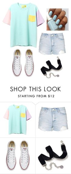 """Untitled #91"" by marija-jozic on Polyvore featuring Topshop, Converse and Sweet Romance"