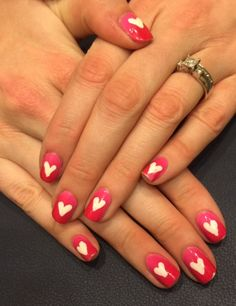 Nails This Week: Valentine's Day 2015 - Ombre & Hearts http://nailsfornickels.com/nails-this-week-valentines-day-2015-ombre-hearts/