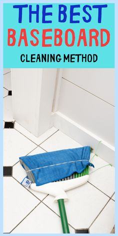 This is the best and easiest way to clean baseboards in your house. You won't have to bend or anything. The baseboard will be clean in seconds. If you have back pain when bending then this cleaning method is for you. You will only need 4 items that everyone has in there home so this method won't cost you any money at all.#easycleaning #cleaninghacks #householdhacks #cleaningtips #householdtips #cleanerrecipe